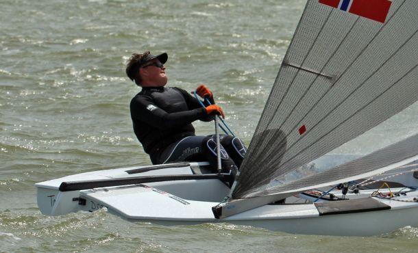 Anders Pedersen at the Finn Silver Cup. Photo Robert Deaves.