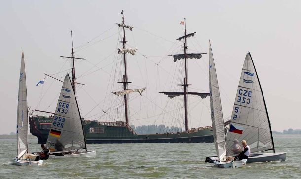 No action at the Finn Silver Cup. Photo Robert Deaves.