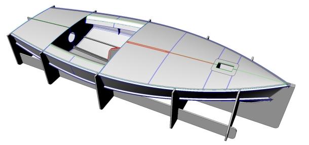 The Dan Leech designed CNC cut OK Dinghy.