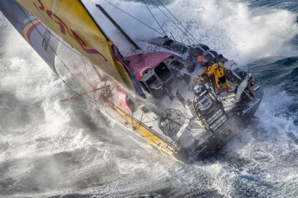 Rugged conditions on Dongfeng off the New Zealand coast. Photo Ainhoa Sanchez / Volvo Ocean Race.