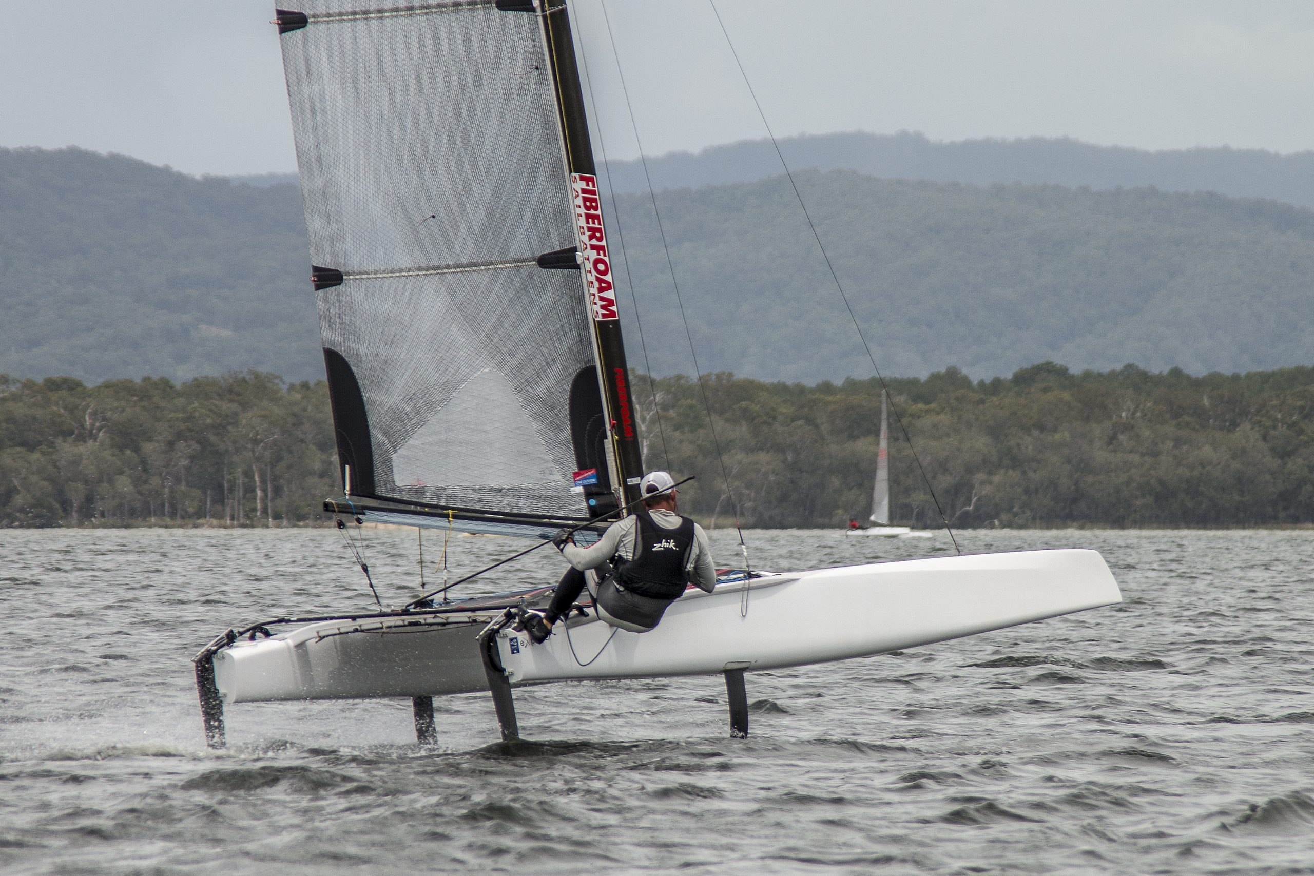 Brad Collett at the 2015 A Class Australian Championship. Photo Julie Hartwig Photography.
