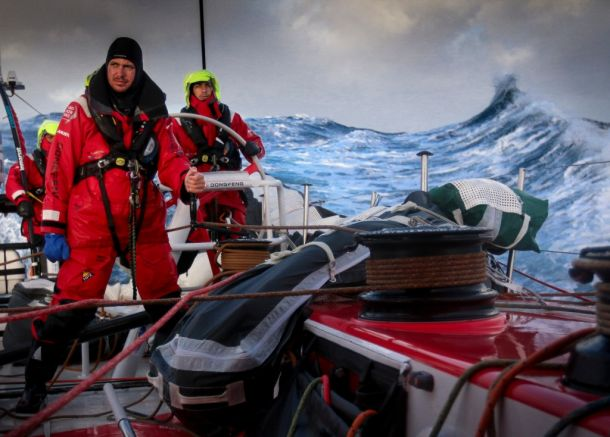 Dongfeng in the Southern Ocean. Photo Yann Riou / Dongfeng Race Team / Volvo Ocean Race.