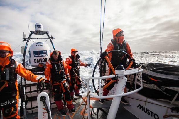 Alvimedica near Cape Horn. Photo Amory Ross / Team Alvimedica / Volvo Ocean Race.