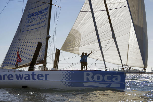 Bruno and Willy Garcia finish fifth on We Are Water. Photo Barcelona World Race.