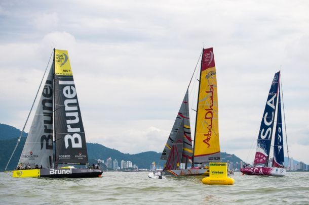 Itajai in-port race. Photo Laura Lopes / Dongfeng Race Team