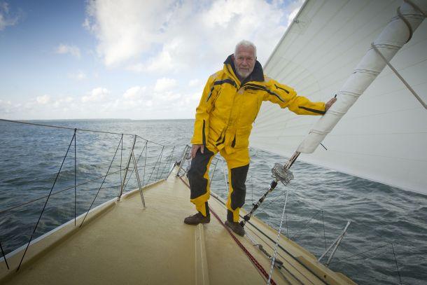 Sir Robin Knox-Johnston on Grey Power. Photo RKJ.
