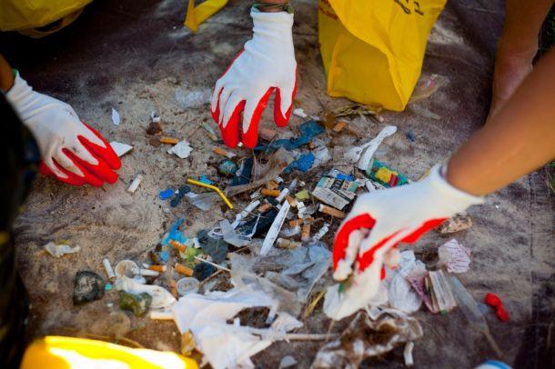 Marine trash. Photo Ocean Conservancy / Elyse Butler.