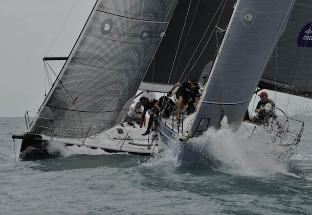 Foxy Lady VI on their way to two wins in IRC One today. Photo Chaos/ Samui Regatta.