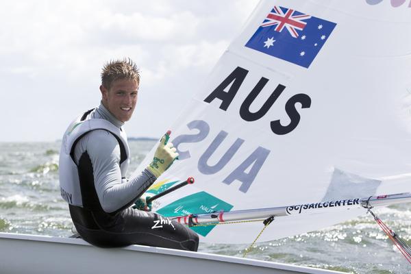 Matt Wearn celebrates his win at Delta Lloyd. Photo Sander van der Borch.