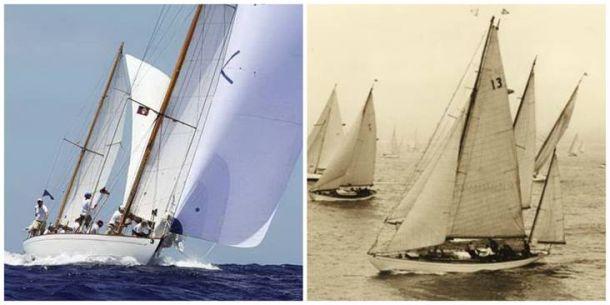 "Dorade present and past. Photos courtesy of Dorade ""Return to Blue Water""."
