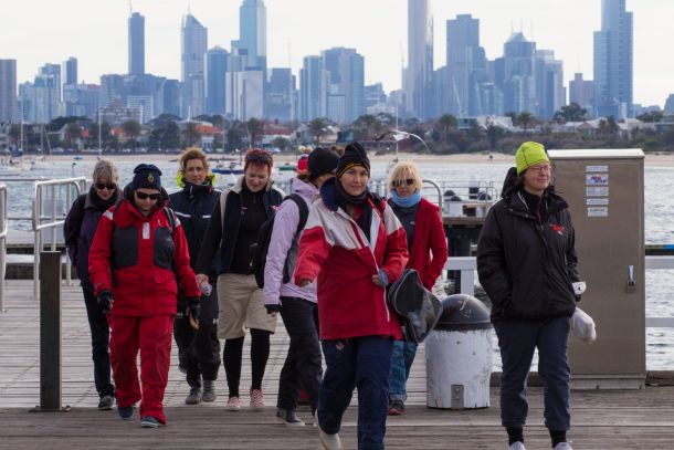 Heading back to the club after AP/A was posted at the Australian Women's Keelboat Regatta. Photo credit Bruno Cocozza.