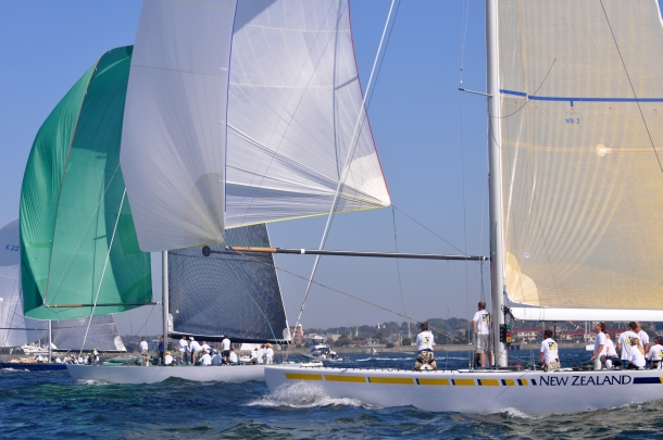 The 2014 12 Metre North American Championship was sailed on the famed America's Cup waters in Newport