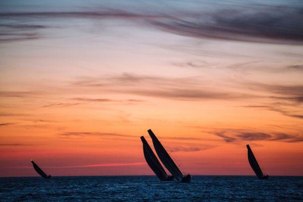 Close racing in the VOR. Photo Amory Ross / Team Alvimedica / Volvo Ocean Race.