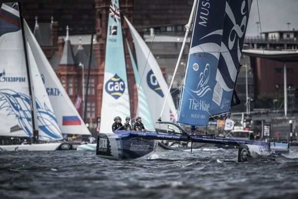 The Wave Muscat leads the fleet in Cardiff. Photo Lloyd Images.