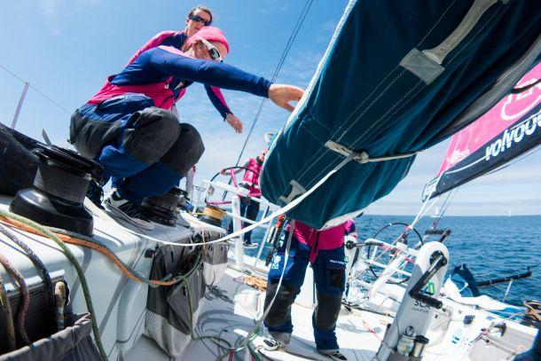 Onboard Team SCA. Photo Anna-Lena Elled / Team SCA / Volvo Ocean Race.