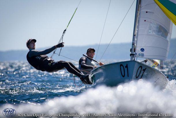 Belcher and Ryan at the 470 Euros. Photo Nikos Alevromytis