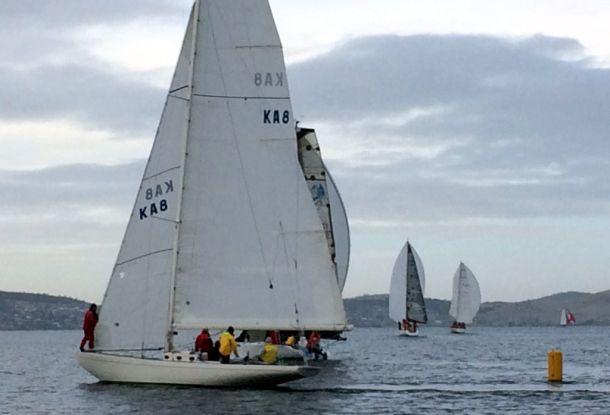 The light winds did not suit the Eight Metre class yacht Juana
