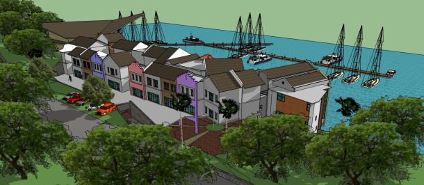 Artists impression (subject to change) of the new Langkawi Yacht Club marina.