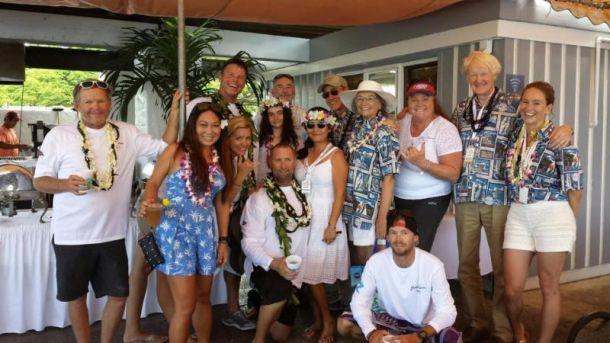 Grand Illusion celebrates its Aloha party at Waikiki YC. Photo Transpac.