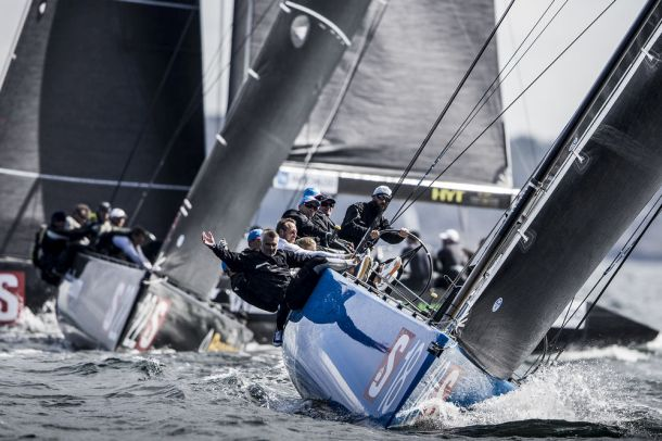Bronenosec Sailing Team flies into the overall lead of the RC44 Marstrand Cup. Photo Martinez Studio.
