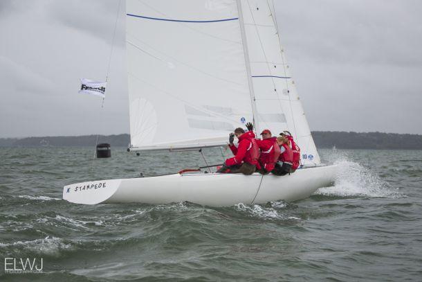 Mark Thornburrow's team from the Royal Hong Kong Yacht Club. Photo Emma Jones