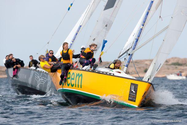 Swede Caroline Sylvan defeating World #2 and fellow club member of the Royal Gothenburg Yacht Club