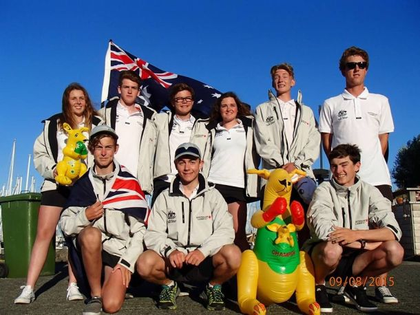 The Australian team contesting the Laser 4.7 youth world championships at Medemblik