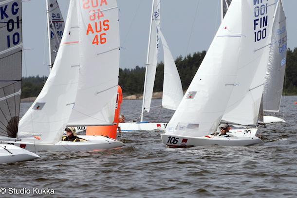 Racing at the International 2.4mR Open World Championships in Finland. Photo Studio Kukka.