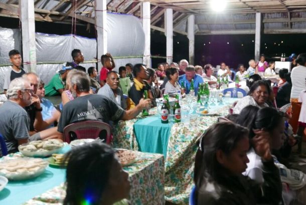 Participants in the Multihull Solutions Wonderful Sail2Indonesia Rally enjoy an arrival party. Photo ICA.
