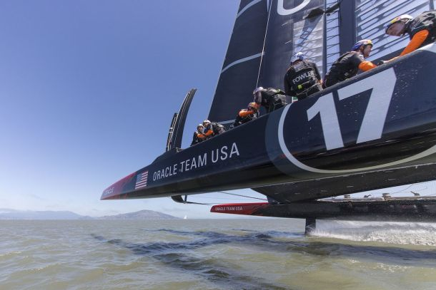 """Oracle """"on the fly"""". Photo Oracle Team USA."""