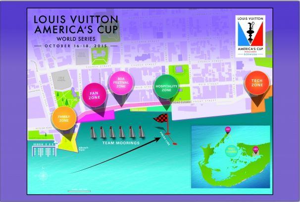 ACWS site map for Bermuda.