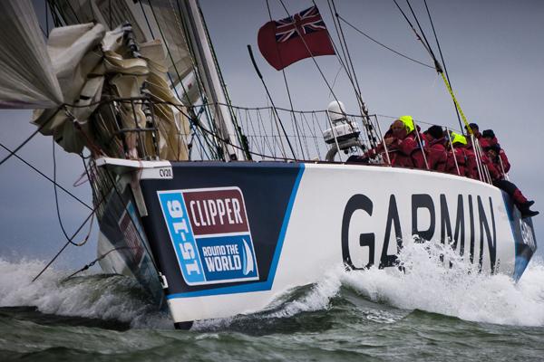 Garmin in the Clipper Race. Photo Clipper Ventures.