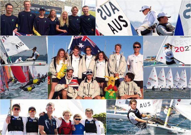 Australia's youth sailors. Photos Yachting Australia.