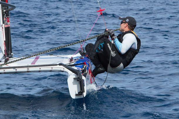 Glenn Ashby at the 2015 A Class Worlds.