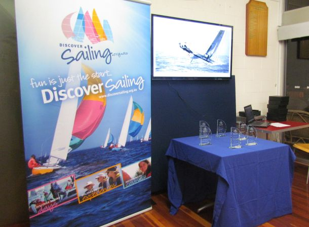 Setting up for the Queensland Yachting Awards 2015. Credit YQ Staff.