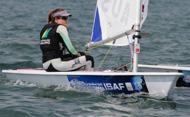 Ashley Stoddart at Qingdao World Cup. Photo ISAF.