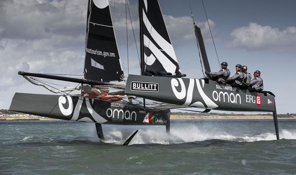 Oman Sail's GC32. Photo Sander van der Borch.