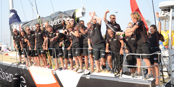 LMAX Exchange crew celebrate their win in Rio. Photo Clipper Ventures.