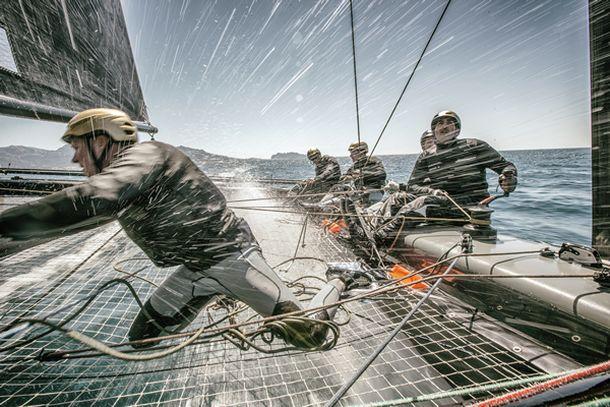 GC32 action. Photo ©: Sander van der Borch / Bullitt GC32 Racing Tour .