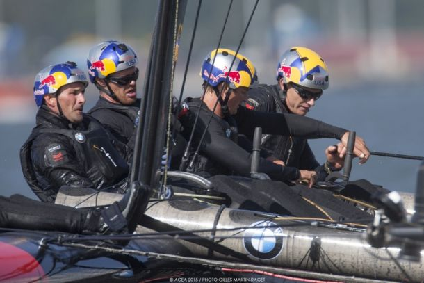 Oracle Team USA racing in Sweden. Photo Oracle Tea USA.