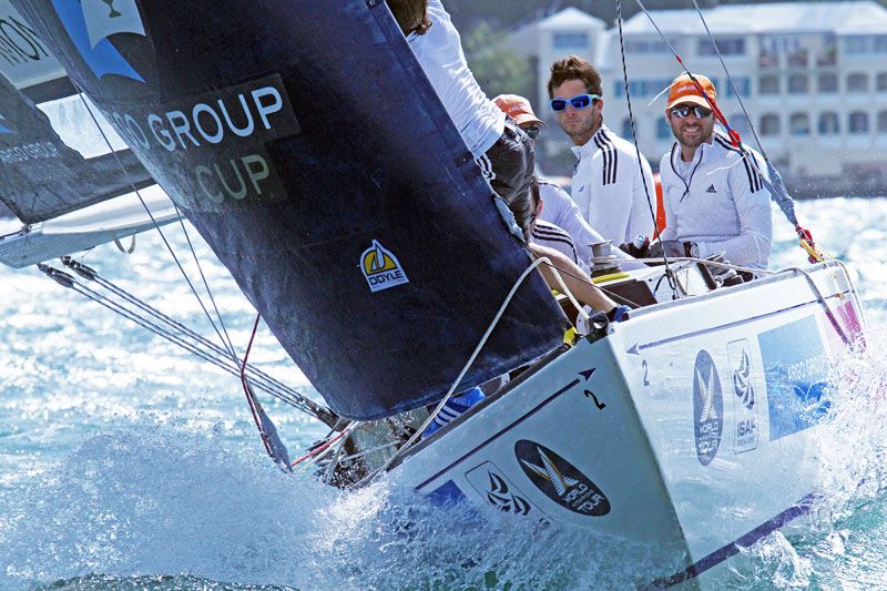 Eric Monnin and his team in action during qualifying at the Argo Group Gold Cup © Charles Anderson / RBYC