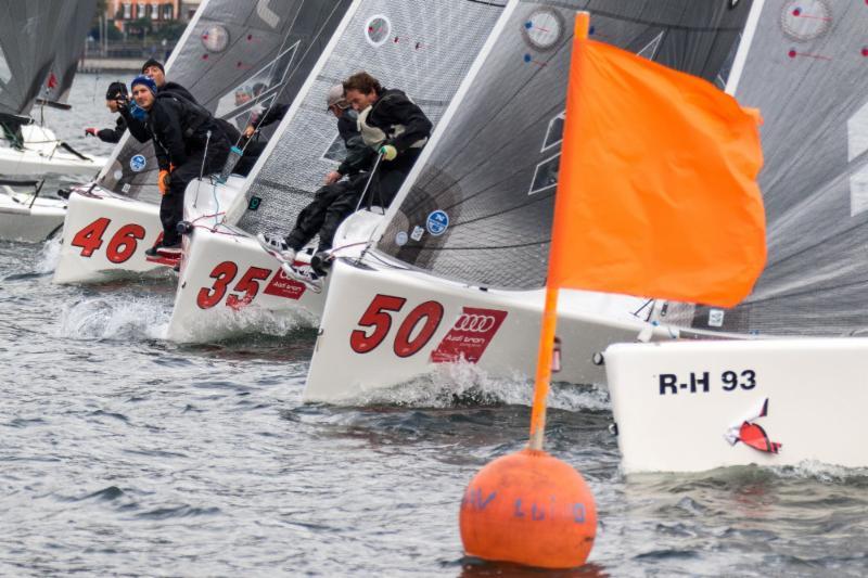 Melges 24 fleet in Luino. Photo BPSE/Mauro Melandri.