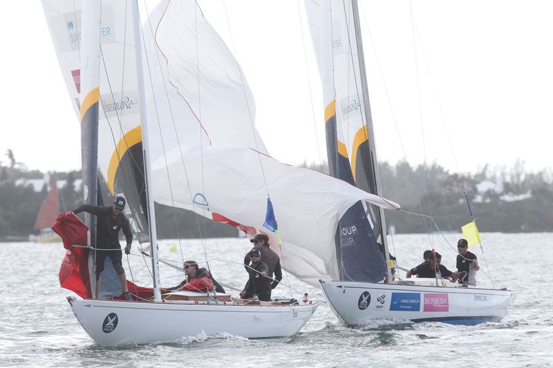 Swinton vs Barker in the repechage round at the Argo Group Gold Cup. Photo by Charles Anderson / RBYC.