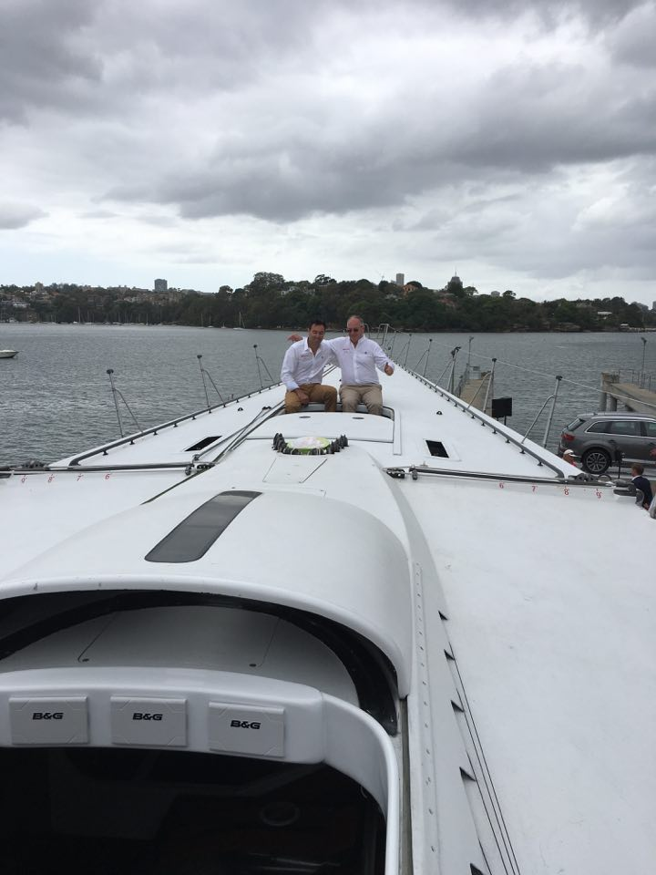 Mark Richards and Sandy Oatley unveiled Wild Oats XI's latest modifications.
