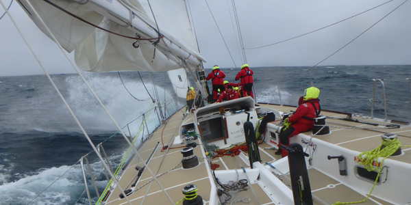 Downwind in the Southern Ocean on LMAX. Photo Clipper Ventures.