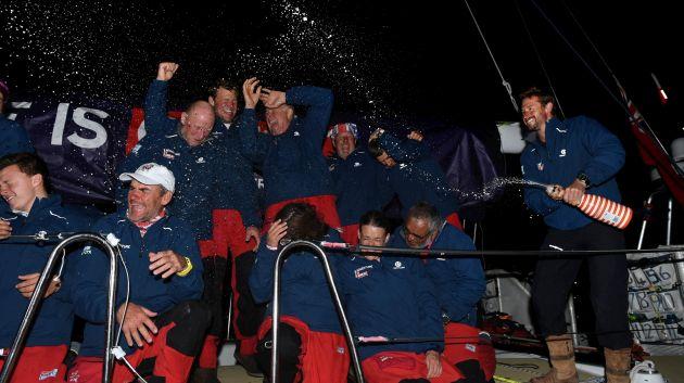 GREAT Britain crew celebrates reaching Sydney. Photo Clipper Ventures.