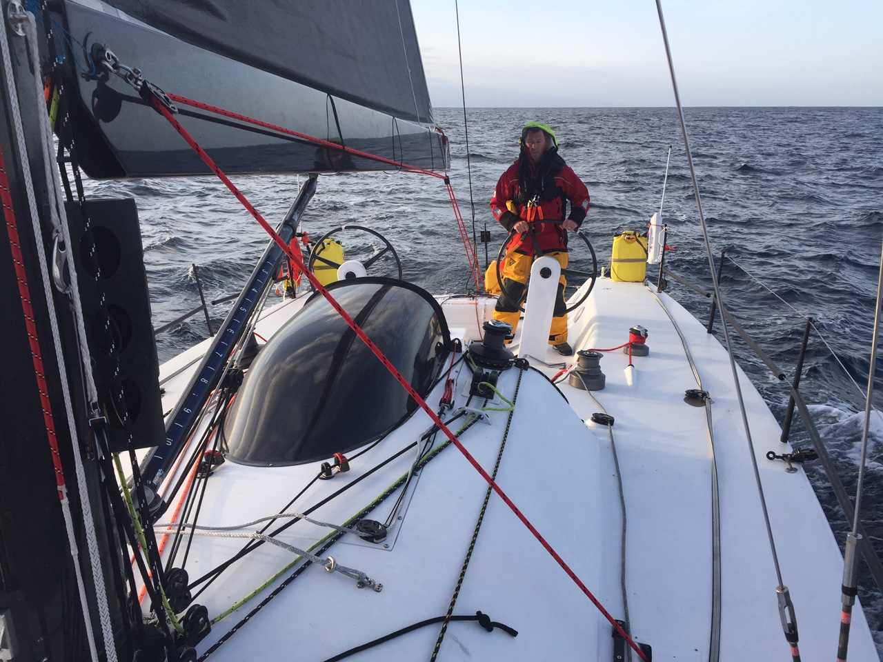 On board the brand new Avalanche - Courtesy Hugh Ellis.
