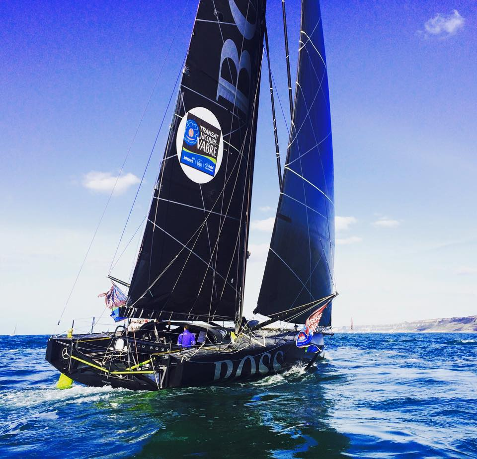 Hugo Boss ahead of the start of the Transat Jacques Vabre. Photo Alex Thomson Racing.