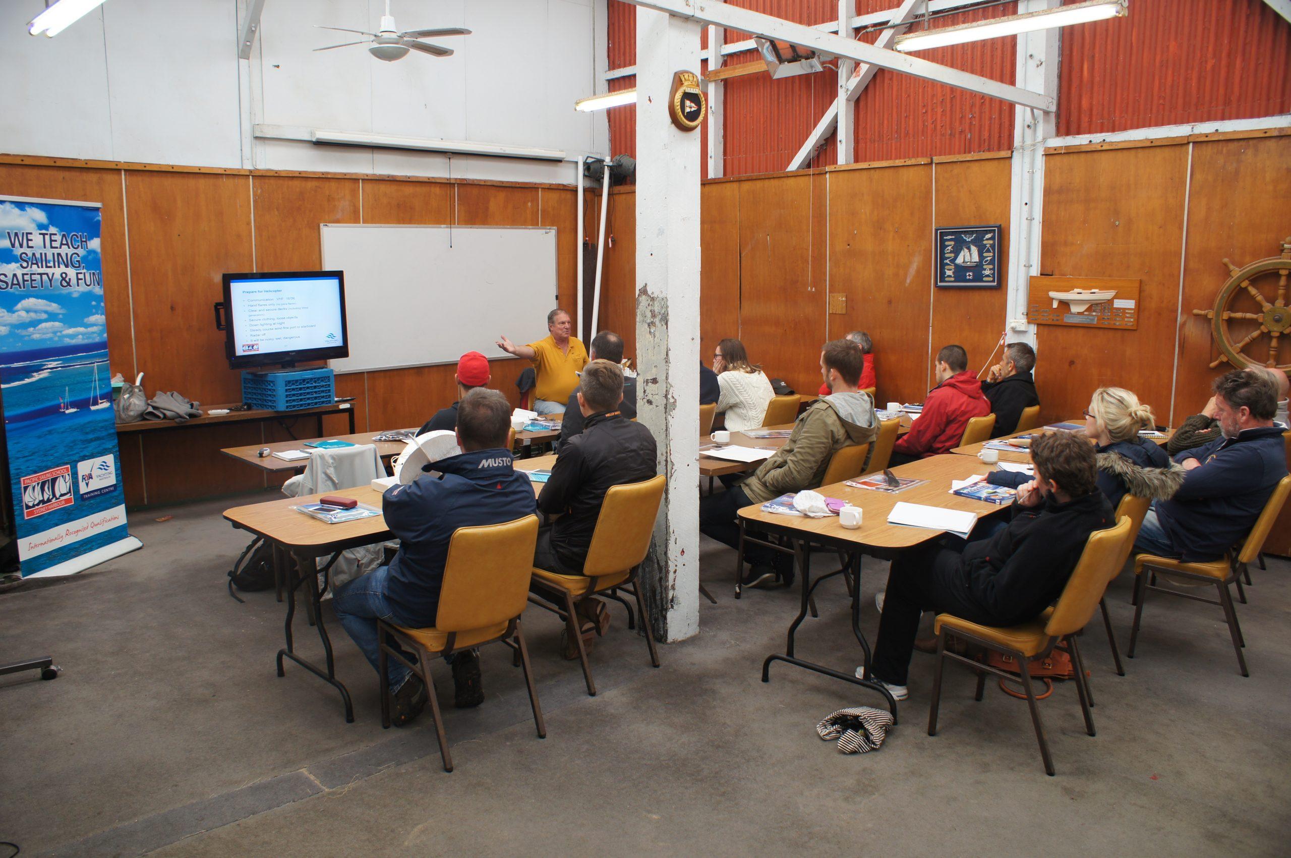 Classroom at RANSA for Pacific Sailing School.