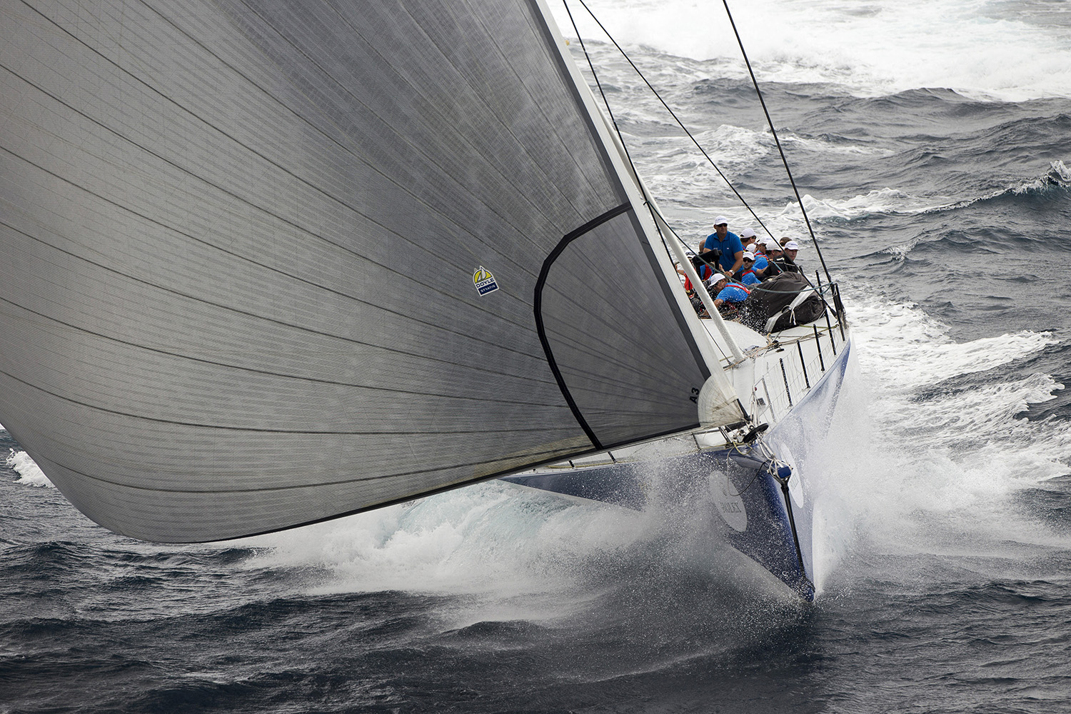 Ragamuffin 100 at the start of the Rolex Sydney Hobart Yacht Race. Photo Andrea Francolini.